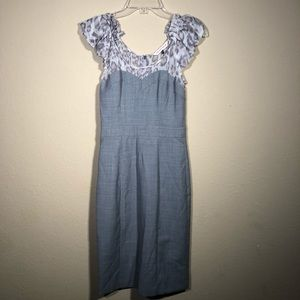 Rebecca Taylor Leopard Sheath Pencil Dress